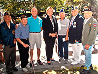 July 4th 2010 Celebration.  Helias Doundoulakis with Town of Hempstead Supervisor, Kate Murray and fellow veterans.