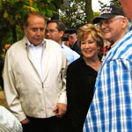 Former U.S. Senators Bob and Elizabeth Dole, greeting New York veterans at  the WW II Memorial, Honor Flight Long Island trip, November 2009.  Bob Dole is a thrice decorated WW II Veteran.