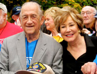 Helias Doundoulakis and former U.S. Senator Elizabeth Dole, Honor Flight Long Island trip, November 2009.
